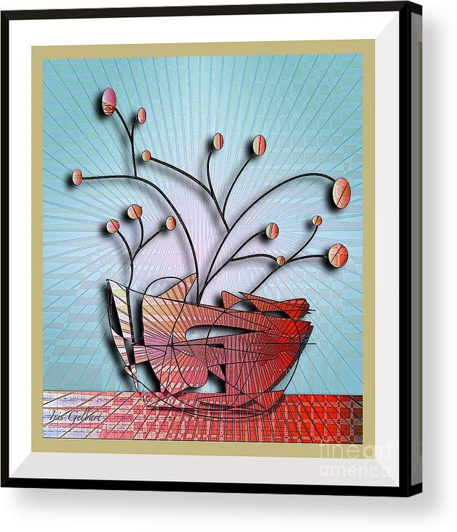 House Plant Acrylic Print featuring the digital art House Plant #6 by Iris Gelbart