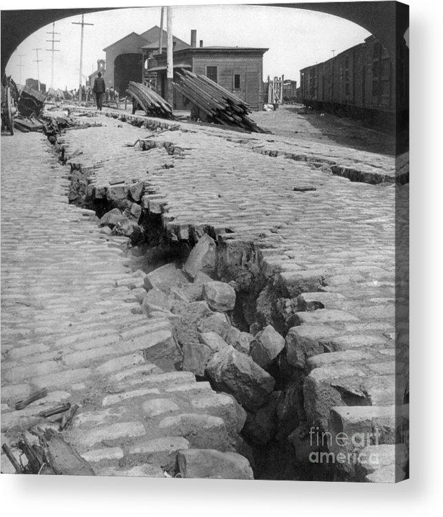 1906 Acrylic Print featuring the photograph San Francisco Earthquake by Granger