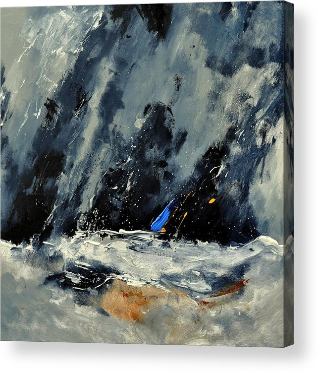 Abstract Acrylic Print featuring the painting Abstract 88114080 by Pol Ledent