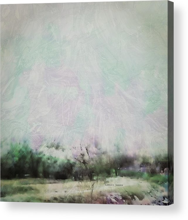 Abstract Acrylic Print featuring the digital art Abstract Down The Road by Lenore Senior