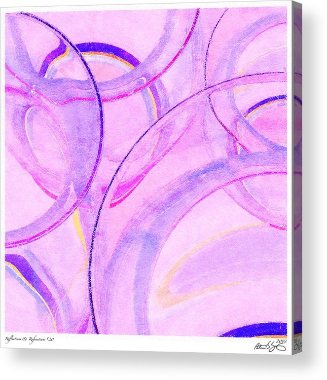 Glass Acrylic Print featuring the painting Abstract Number 20 by Peter J Sucy