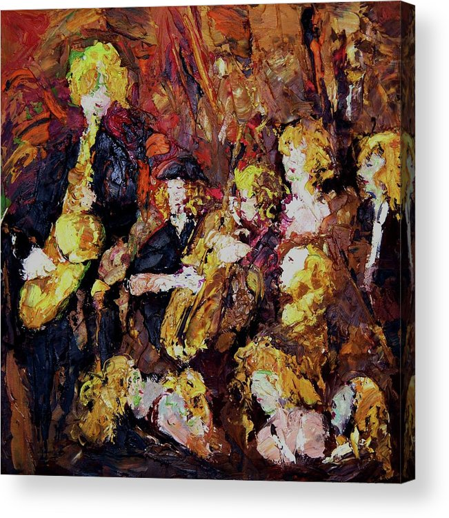 Band Acrylic Print featuring the painting Female Band by Hai Xian Suen