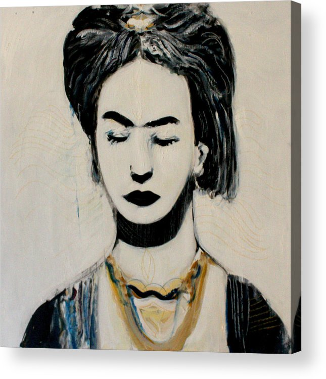 Painting Acrylic Print featuring the painting Frida Kahlo by Alexander Carletti