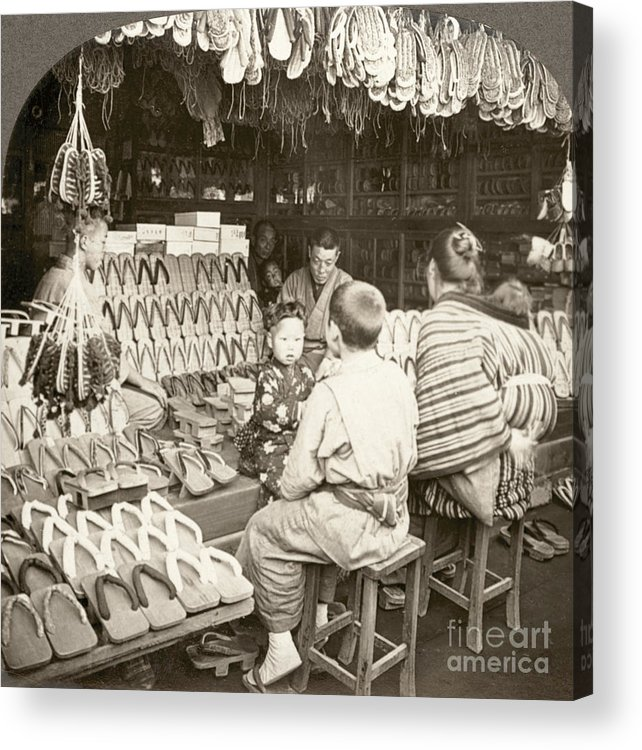 20th Century Acrylic Print featuring the photograph Japan: Shoe Store, C1910 by Granger