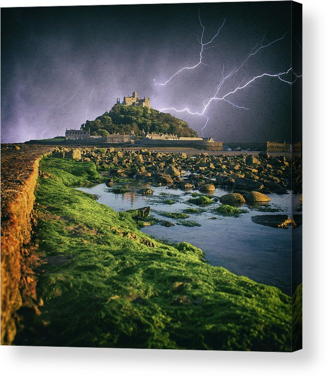 Sea Acrylic Print featuring the photograph Lightning Storm by Martin Newman