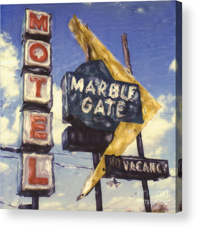 Polaroid Acrylic Print featuring the photograph Motel Marble Gate by Steven Godfrey
