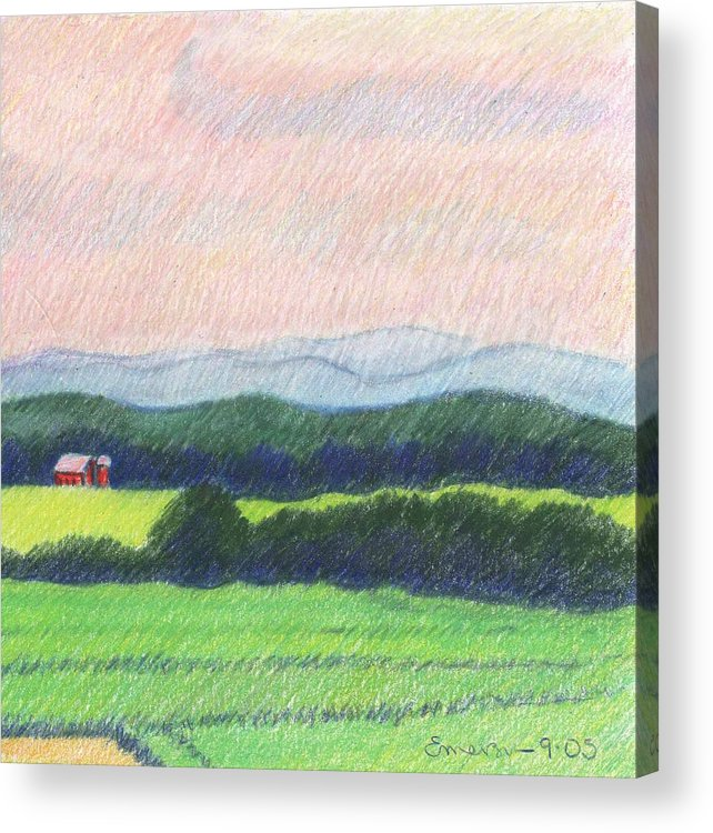 Landscape Acrylic Print featuring the drawing Pocahontas County by Harriet Emerson