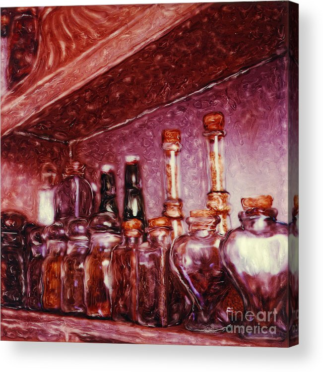 Still Life Acrylic Print featuring the photograph Still Life With Spice Jars - Polaroid Sx-70 by Renata Ratajczyk