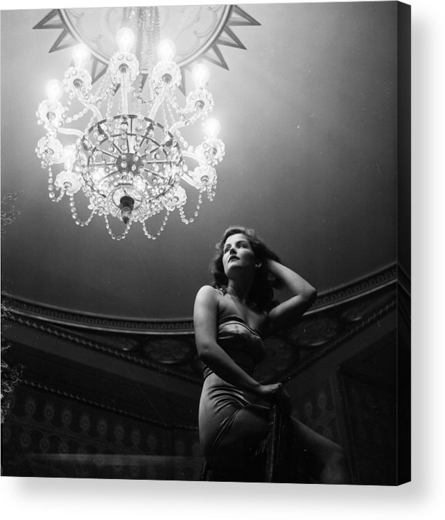 Three Quarter Length Acrylic Print featuring the photograph Pavilion Chandelier by Thurston Hopkins