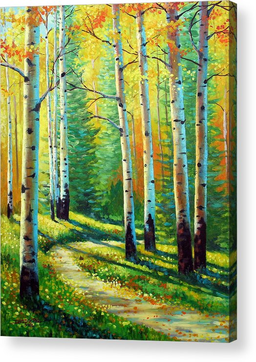 Landscape Acrylic Print featuring the painting Colors Of The Season by David G Paul