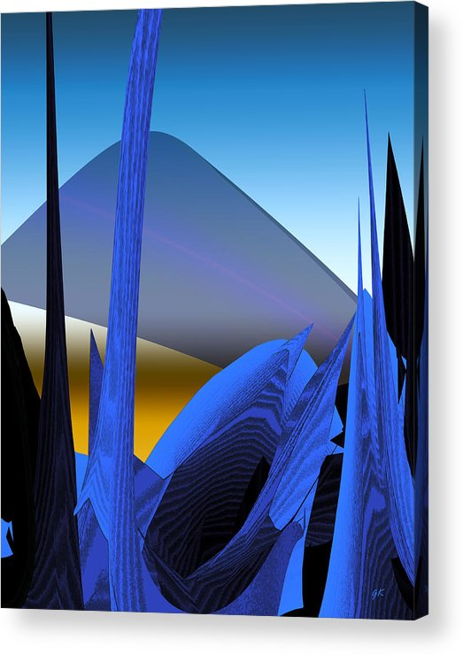 Digital Art Acrylic Print featuring the digital art Abstract 200 by Gerlinde Keating - Galleria GK Keating Associates Inc
