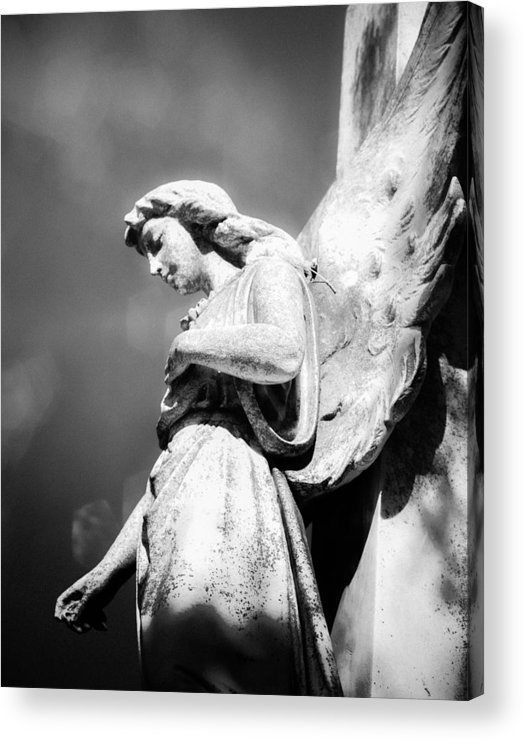 Angel Acrylic Print featuring the photograph Bokeh Angel In Infrared by Sonja Quintero