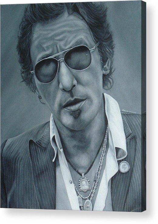 Bruce Springsteen Acrylic Print featuring the painting Bruce Springsteen IIi by David Dunne