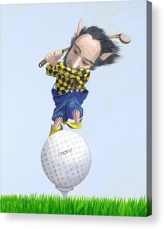 Leonard Filgate Acrylic Print featuring the painting The Golfer by Leonard Filgate