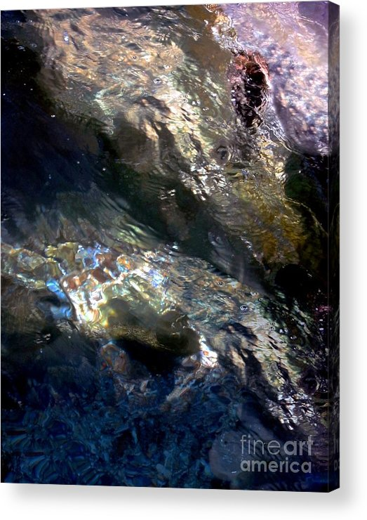 Water Acrylic Print featuring the digital art Sun On Water by Dale  Ford