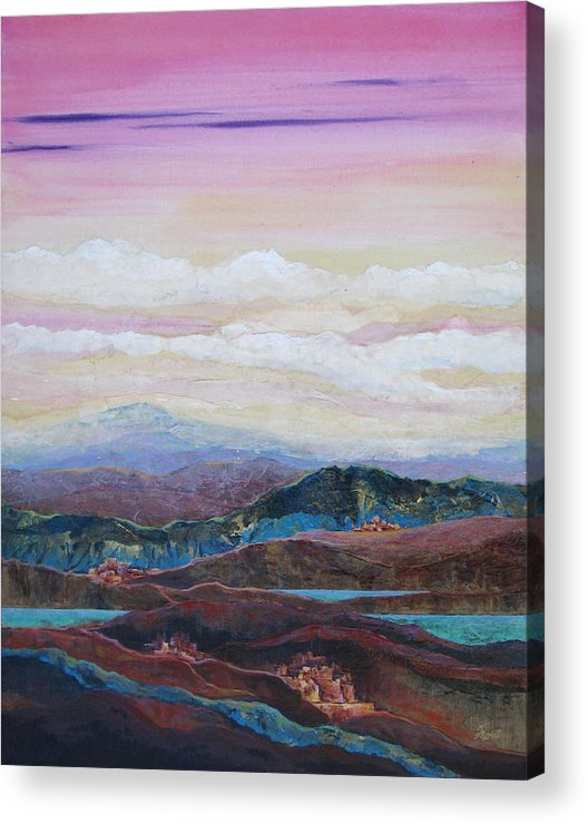 Painting Acrylic Print featuring the painting Arizona Reflections Number Three by Don Trout