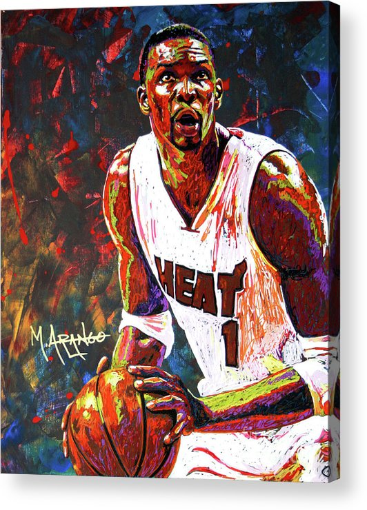 Chris Acrylic Print featuring the painting Bosh by Maria Arango