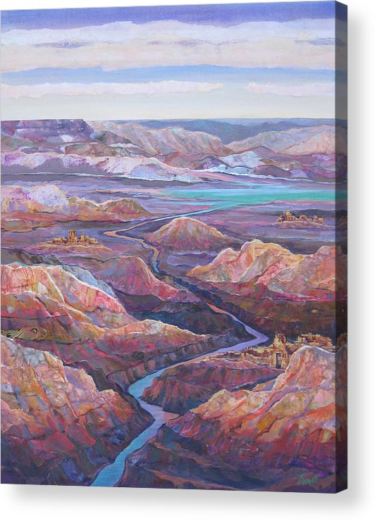 Southwest Acrylic Print featuring the painting Canyonlands by Don Trout