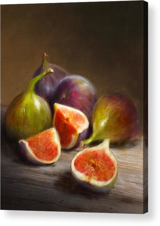 Figs Acrylic Print featuring the painting Figs by Robert Papp