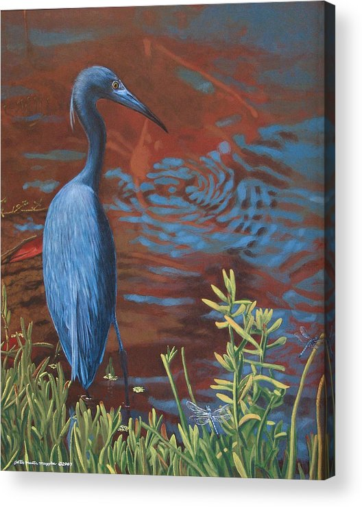 Painting Acrylic Print featuring the painting Gazing Intently by Peter Muzyka