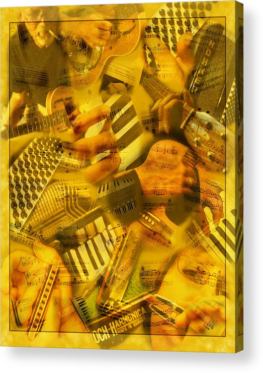 Guitar Acrylic Print featuring the photograph Jammin by Linda McRae