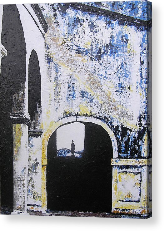 Tunnel Acrylic Print featuring the painting Mystical Moment by Ricklene Wren