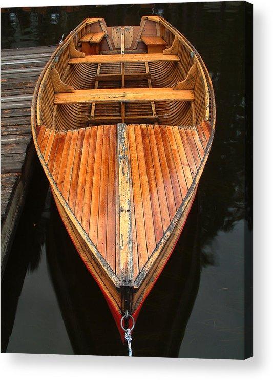 Cedar Strip Boat Acrylic Print featuring the photograph Nipissing Boat by Linda McRae