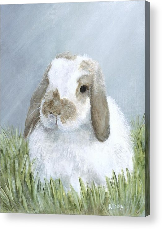 Rabbit Acrylic Print featuring the painting Perfect Tyler by Kimberly Hodge