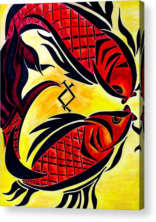 Fish Acrylic Print featuring the painting Pescardo by Meilena Hauslendale