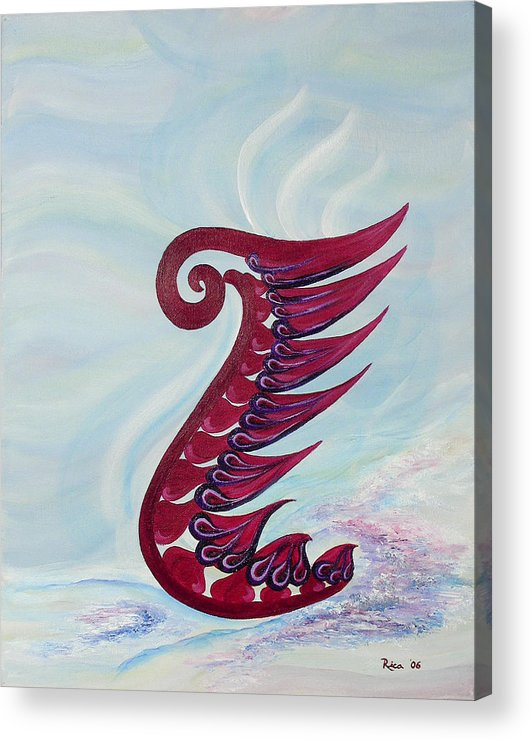 Abstract Acrylic Print featuring the painting Phoenix - Hope by Hendrica Regez