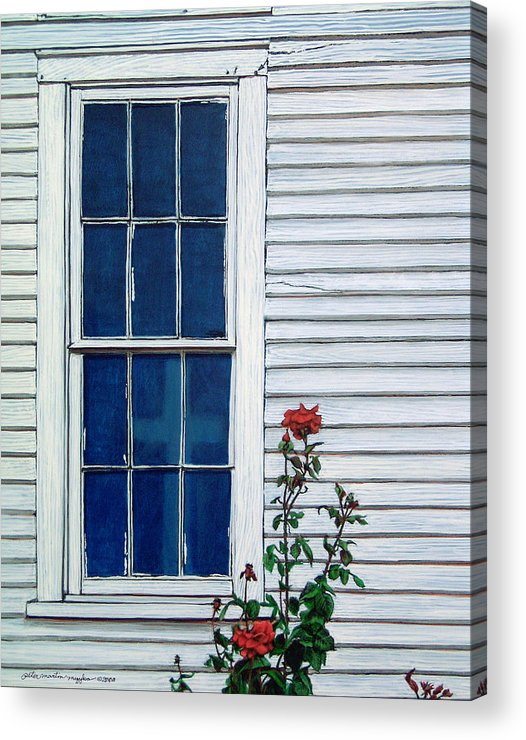 Painting Acrylic Print featuring the painting Red White And Blue by Peter Muzyka