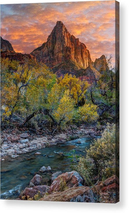 Zion National Park Acrylic Print featuring the photograph Zion National Park by Utah Images