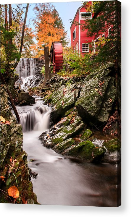 Grist Mill Acrylic Print featuring the photograph Grist Mill-bridgewater Connecticut by Expressive Landscapes Fine Art Photography by Thom