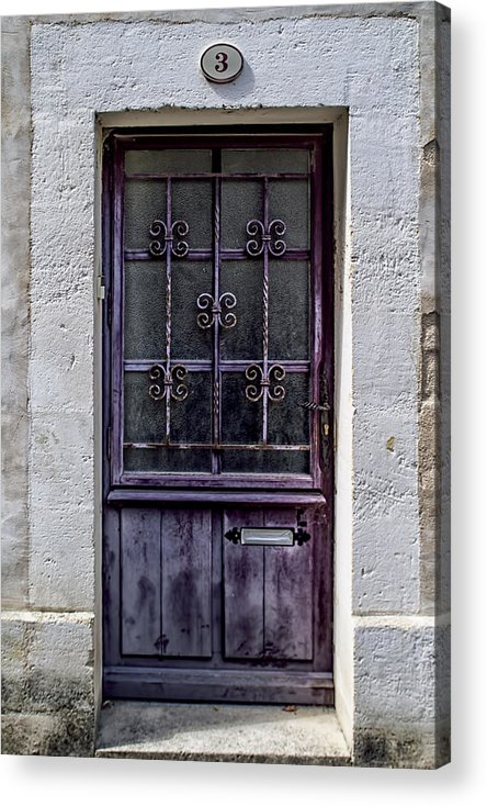 Artistic Door Acrylic Print featuring the photograph St Emilion Door by Georgia Fowler