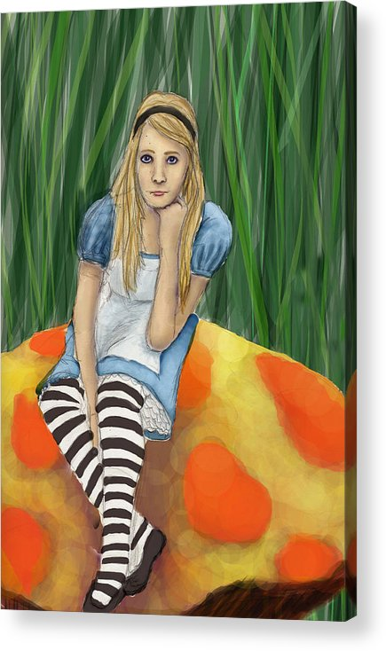 Acrylic Print featuring the digital art Alice In Wonderland by Aimee Helsper