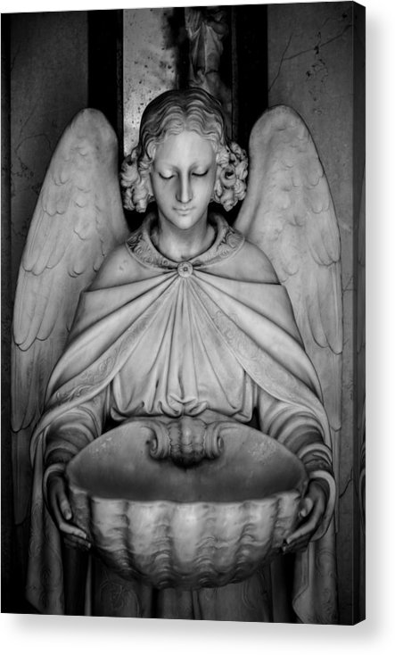 Angel Acrylic Print featuring the photograph Entrance Angel by Anthony Citro