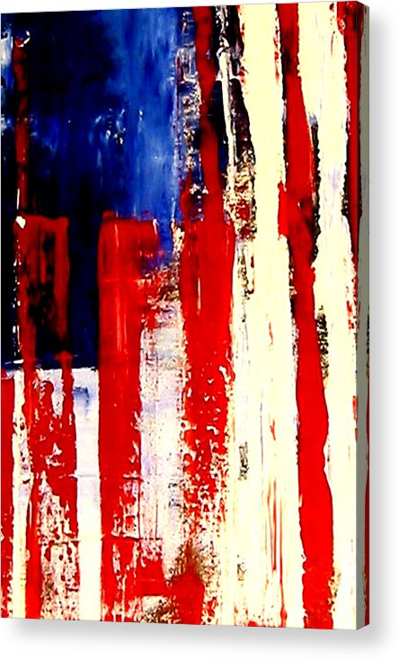 Flag Acrylic Print featuring the painting Independence Day by Charles Jos Biviano