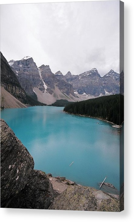Landscape Acrylic Print featuring the photograph Lake Moraine by Caroline Clark