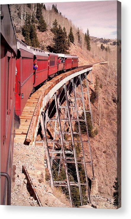 Trains Acrylic Print featuring the photograph Steam Train Wonder.. by Al Swasey