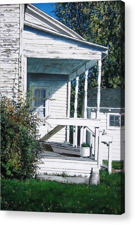 Farmhouse Acrylic Print featuring the painting Threshold by William Brody