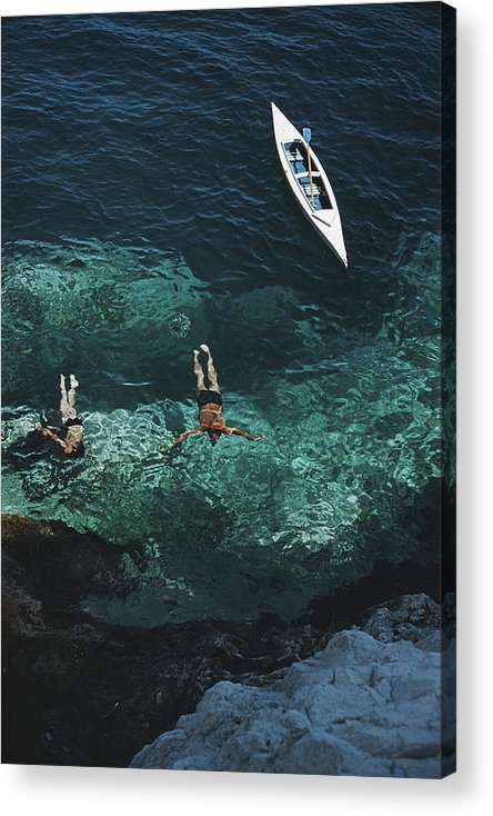 People Acrylic Print featuring the photograph Capri Holiday by Slim Aarons
