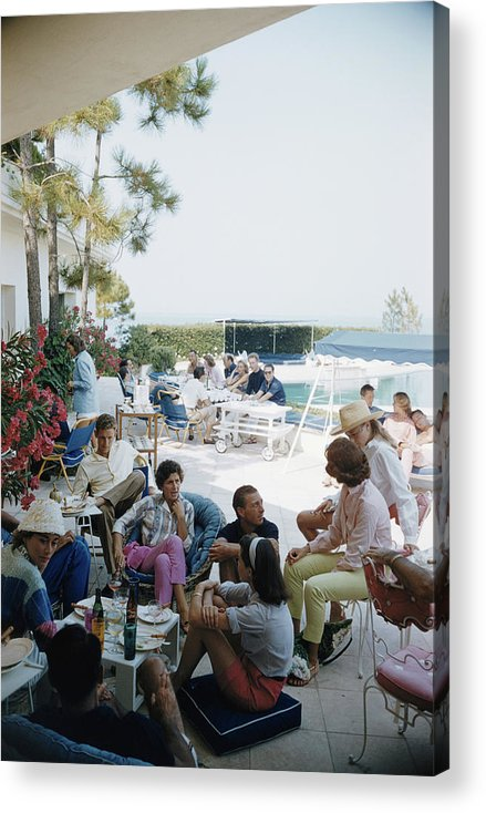 People Acrylic Print featuring the photograph French Riviera by Slim Aarons