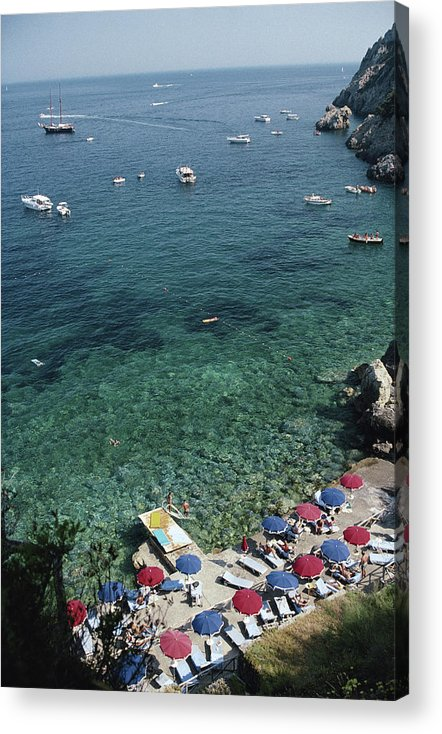 Outdoors Acrylic Print featuring the photograph Porto Ercole Beach by Slim Aarons