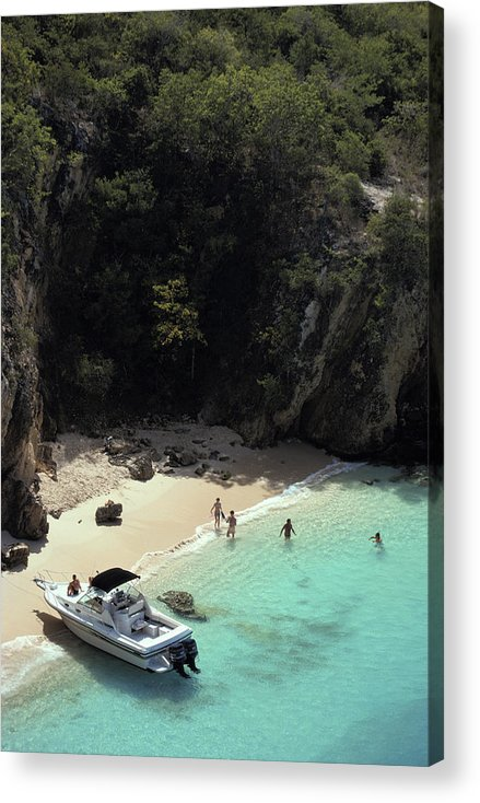 People Acrylic Print featuring the photograph Trip To Little Bay by Slim Aarons