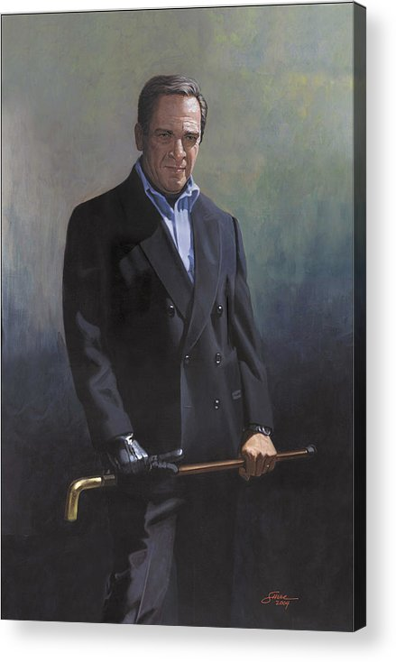 #formal Portrait Of Harold Shull Acrylic Print featuring the painting Harold Shull Circa 2004 by Harold Shull