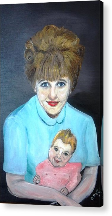 Portrait Adoption Mother Baby Family Love Better Choice Acrylic Print featuring the painting Choose Life by Alfred P Verhoeven