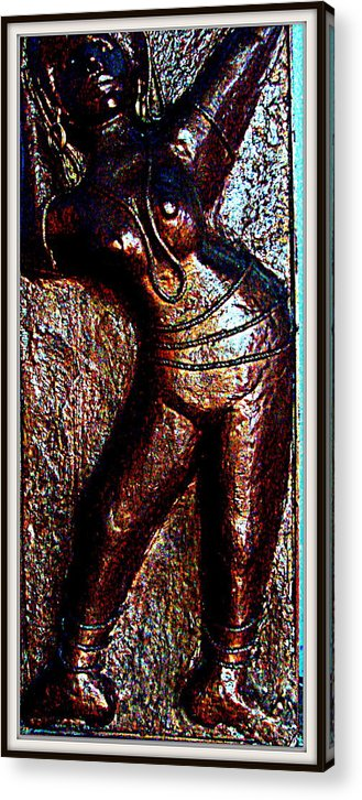 Sculptures Acrylic Print featuring the sculpture Dancing Girl by Anand Swaroop Manchiraju