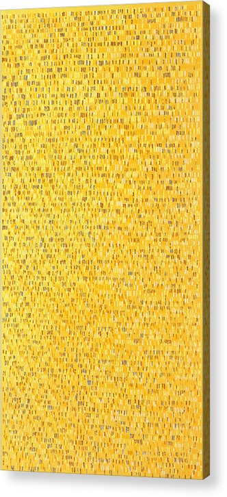 Abstract Pattern Yellow Brown White Pink Grey Acrylic Print featuring the painting Africa12 by Joan De Bot