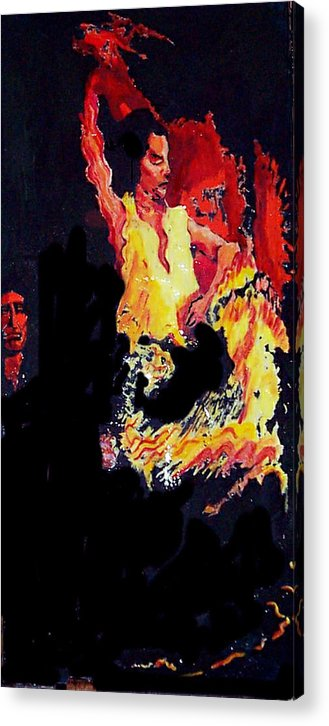 Figurative Acrylic Print featuring the painting Baila Gitana Baila by Elio Lopez