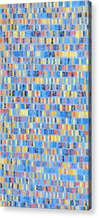 Abstract Acrylic Print featuring the painting Canterburytales by Joan De Bot